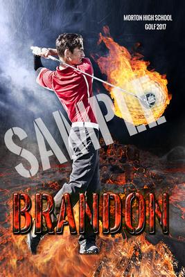 12X18 Balls of Fire posterBrandon OlsonSAMPLEWORDS