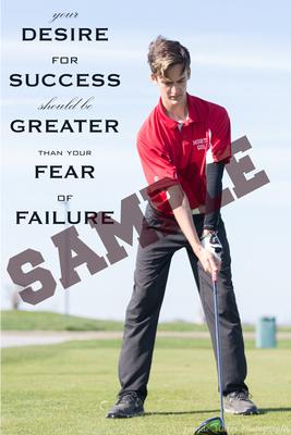 Vertical- Desire motivational poster12x18SAMPLEWORDS