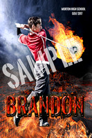12X18 Balls of Fire posterBrandon OlsonSAMPLEWORDS