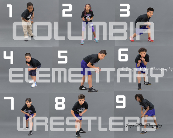 Columbia Wrestlers Proof sheet #1